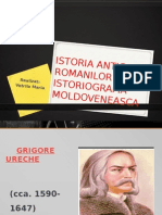 Istoria Antica a Romanilor in Istoriografia Moldoveneasca