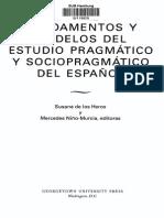 Fundamentos y Estudios Del Modelo Sociopragmático en El Español