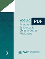 TABELAS DE HONORÁRIOS DE SERVIÇOS DE ARQUITETURA E URBANISMO DO BRASIL.3