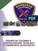 TRAUMA DE COLUMNA, TRASLADO E INMOVILIZACION..ppt