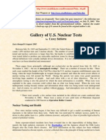 Gallery of US Nuclear Tests