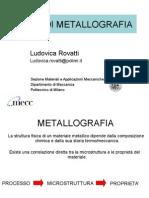 Cenni Di Metallografia - Rovatti 2015
