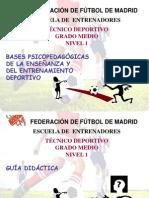 BASES PSICOPEDAGÓGICAS DE LA ENSEÑANZA Y DEL ENTRENAMIENTO DEPORTIVO 0. GUÍA DIDÁCTICA