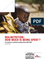 MSF Malnutrition How Much is Being Spent
