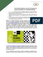 20150616 El Ajedrez Como Herramienta Educativa, Eje Del III Congreso de Pedagogia y Ajedrez en El Aula GSD Buitragox