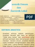 Ppt Farmakologi anestetik umum dan lokal