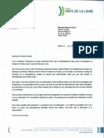 Courrier de Jacques Auxiette à Manuel Valls