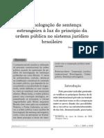 Homologaçao e Ordem Pública