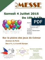 Affiche Kermesse Secours Populaire de Colmar 2015