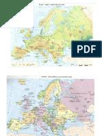 Geografie Bac Europa