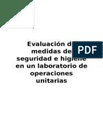 Evaluación de Medidas de Seguridad e Higiene en Un Laboratorio de Operaciones Unitarias