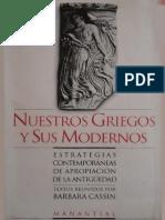 """Barbara Cassin - """"Nuestros griegos y sus modernos"""""""