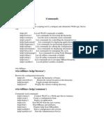 Commands List
