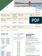 June Calendar and Prayer List