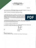 Downey Offical Order