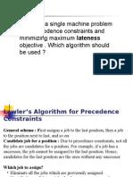 Machine Scheduling