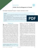 Weil-Felix Test in Diagnosis of Scrub