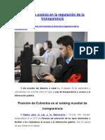 Colombia Avanza en La Regulación de La Transparencia