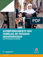 Acompanhamento das famílias de pessoas desaparecidas - uma introdução ao manual