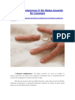 Divorcio Contencioso o Sin Mutuo Acuerdo en Colombia