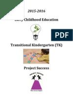 2015-2016 ECE & Proj. Success Plan