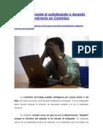 En Qué Consiste El Autodespido o Despido Indirecto en Colombia