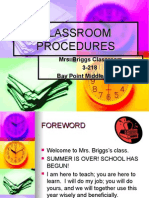 briggs classroom procedures
