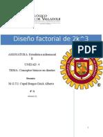 Diseño factorial de 2k^3