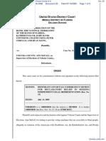 The National Federation of the Blind et al v. Volusia County et al - Document No. 29