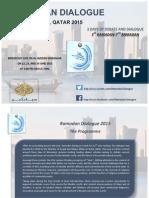 Ramadan Dialogue Programme Doha 2015