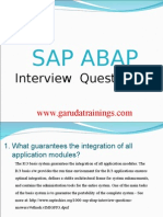 SAP abap Latest Interview Questions