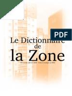 Le Dictionnaire de La Zone
