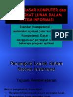 Perangkat Lunak Dalam Sistem Informasi x