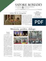 L´OSSERVATORE ROMANDO - 12 Junio 2015
