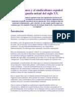 Los Cristianos y El Sindicalismo Español en La Segunda Mitad Del Siglo XX