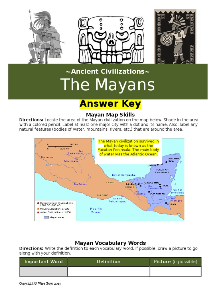 mayan answer key | Maya Civilization | Indigenous Peoples ...