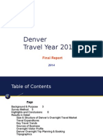 Visit Denver visitation report by Longwoods International 2014
