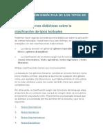 Clasificación Didáctica de Los Tipos de Textos