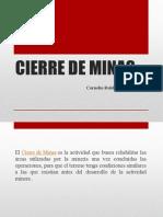 Cierre de Minas Clase 02 Cftm