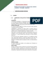 Especificaciones Técnicas Miguel g.