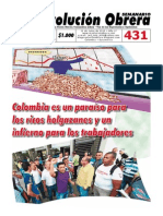 Semanario Revolución Obrera Edición No. 431