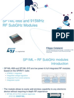 SP1ML-868 and 915MHz RF SubGHz Modules