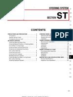 1995 Infiniti G20 Service Manual _ Steering System