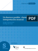 Un Barroco posible claves para la interpretación musical