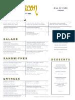 Sugarbacon menus