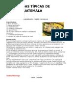 Comidas Tipicas de Guatemala Por Departamento - Recetas, Ingredientes y Preparación