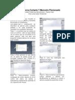 Manual Para Realizar Los Análisis de Fuerza Cortante u Momento Flexiónate en SolidWorks en Vigas Sometidas a Cargas