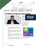 Manuel Acuña Cae Director de Leyes Por Apoyo a Ivonne