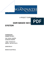 gsm based security systemt