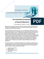 Financial Repression Unintended Consequences 17 June 2015 by FRA